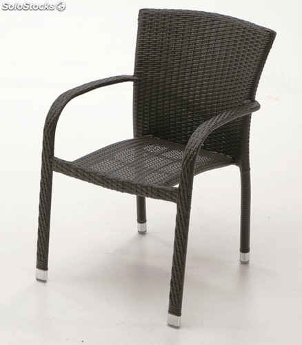 Silla terraza rattan chocolate haiti for Sillas terraza