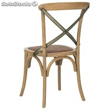 Silla thonet nº. 91 cross / Roble - Hierro