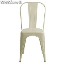 Silla tipo tolix ivory bistrot