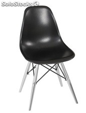 Silla TOW-CRNE, cromada, abs negro