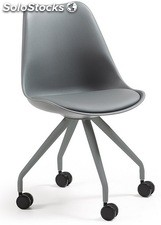 Silla tower office gris