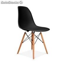 Silla Tower Wood - Color - Negro