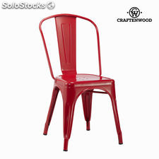 Silla vintage metal roja by Craftenwood