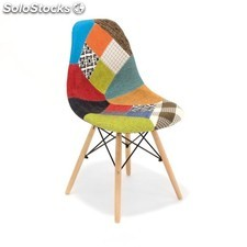 Silla Wooden Eames DSW Patchwork