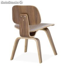 Sillas silla diseño de Eames Low Chair Wood altura asiento alto