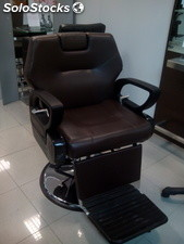 Sillon barbero grande marron