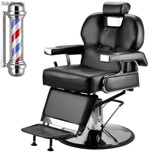 Sill n barbero hidr ulico negro regalo barber pole for Sillas para barberia