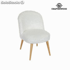 Sillón blanco curvo by Craftenwood