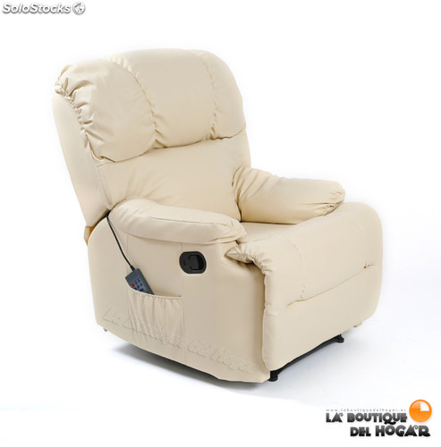 Sillon de masaje Modelo 2015 Color Beige, Negro y Marrón Chocolate