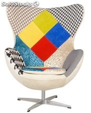 Sillon Egg patchwork 24 'arne jacobsen'