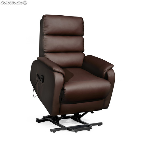 Sillon Relax Atenas, Levanta Personas Marron Chocolate