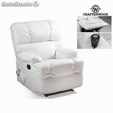 Sillón relax con masaje blanco by Craftenwood
