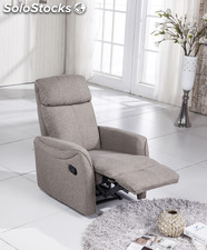 Sillon relax ideal para espacios reducidos tela antimanchas color moka