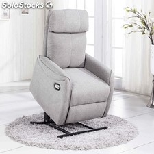 silln relax lift elegance color gris claro - Sillon Lectura