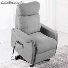 silln relax mister lift elegance color gris claro - Sillon Lectura