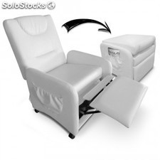 Sillon relax plegable Brio, blanco