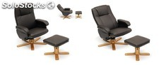 Sillon relax + rep. California polipiel-chocolate