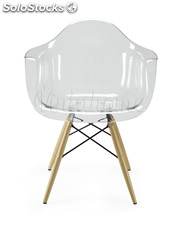 Sillon Tower Wood Transparente