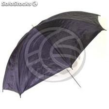 Silver reflector umbrella with translucent white base of 104 cm (EH14)