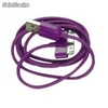 sincronismo e cabo de carregamento para apple iphone / ipad / ipod - 100cm (roxo