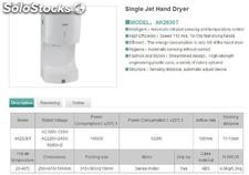 Single Jet Hand Dryer