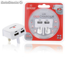 Skross Cargador USB ideal para la carga de smartphones, tables o dispositivos