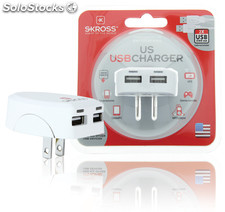 Skross Cargador USB ideal para la carga de smartphones, tablets o dispositivos