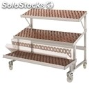 Sloping shelves display-for fruits and vegetables-mod. full-# 2 fixed shelves +