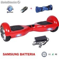 Smart balance elettrico scooter 2RUOTE bluetooth rosso samsung batteria