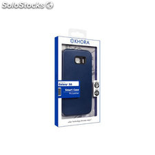 Smart case pu leather blue sam S6
