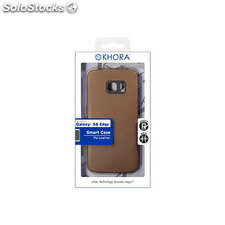 Smart case pu leather brown sam S6 edge