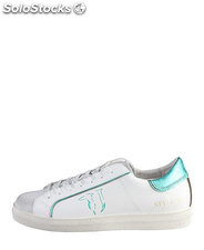 sneakers donna trussardi jeans bianco (36646)