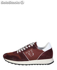 sneakers uomo trussardi jeans rosso (41512)