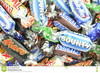 Snickers,Kitkat,Bounty,Twix,Mars,Kinder Joy,Milka,Toblerone, Bounty bar,Mars bar