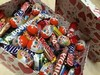 Snickers, Mars, Bounty Twix, Kitkat, kinder joy & surprise, Nutella, Ferrero