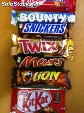 Snickers ,Mars,Twix,Bounty Chocolate Bar
