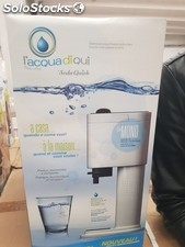 Soda quick l'acqua di qui sparkling water system in glass - brand new stock