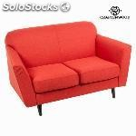 ✅ sof 2 plazas abbey rojo - coleccin love sixty by craftenwood