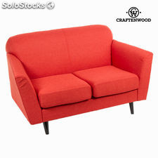 Sofá 2 plazas abbey rojo - Colección Love Sixty by Craftenwood