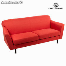 Sofá 3 plazas abbey rojo - Colección Love Sixty by Craftenwood