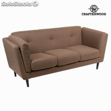 Sofá 3 plazas city tabaco - Colección Love Sixty by Craftenwood