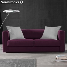 Sofá 3 plazas SAK 180 - Color - Lila-blanco