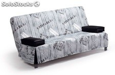 Sofa Cama focus 135X195 cm.t-post Gris oferta