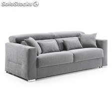 Sofá cama reclinable Queen - Color - Tejido Gris Claro, Medidas - 140