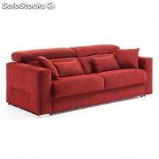 Sofá cama reclinable Queen - Color - Tejido Rojo, Medidas - 140