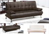 Sofa cama STYLE polipiel-chocolate