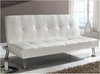 sofa cama polipiel blanco