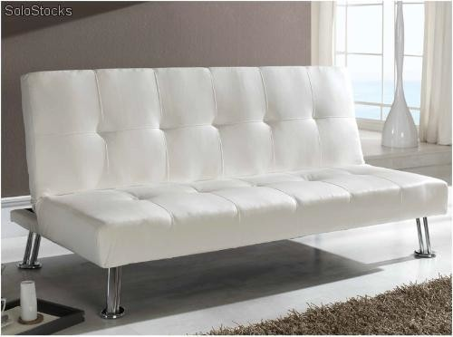 Sofa cama valencia blanco for Sofa blanco barato