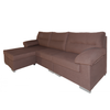 Sofa chaise longue Victoria. Chocolate