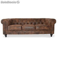 Sofa Chester 3 plazas Negro
